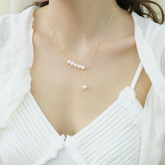 Handmade Natural Pearls Necklace - Slow Living Lifestyle