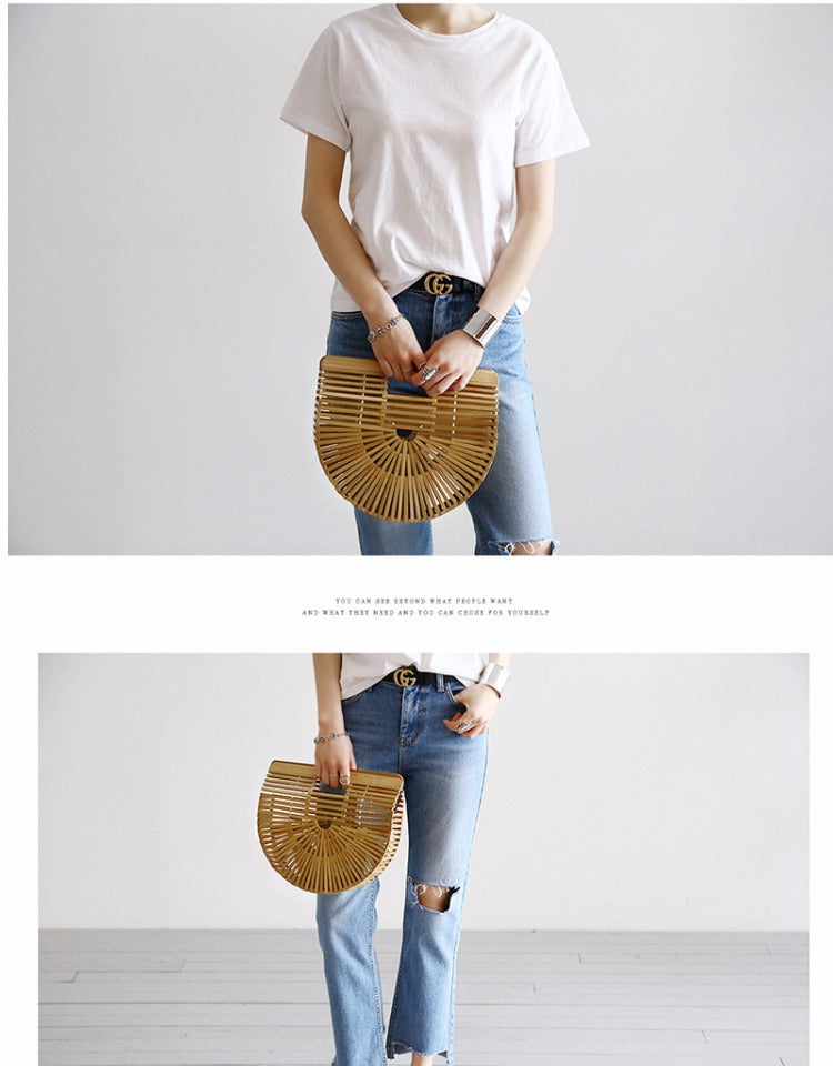 Summer  Handmade Bamboo  Bag
