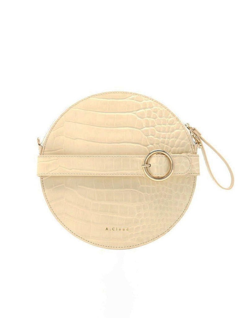 A.Cloud Cream Future Notes Round Bag - Slowliving Lifestyle