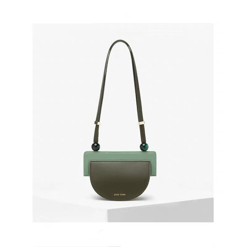Star Town Green Half Moon Bag - Slow Living Lifestyle