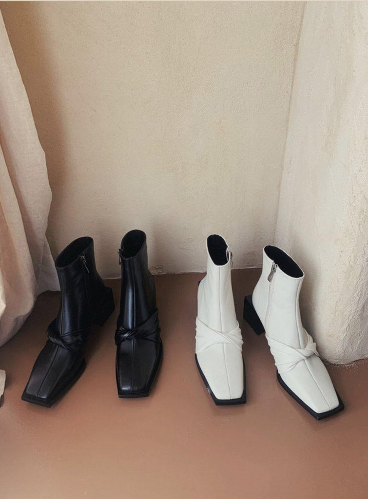 Genuine Leather Woman Boots Ankle Shoes - Slowliving Lifestyle