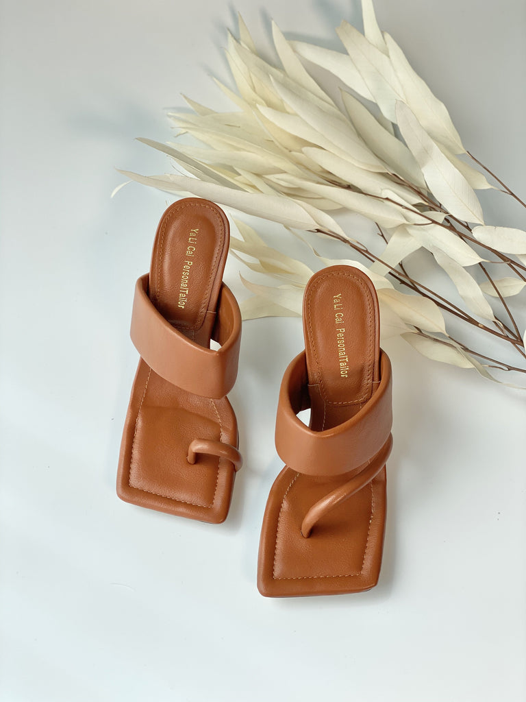 Flip Flops Square Toe  Sandal Shoes - Slowliving Lifestyle
