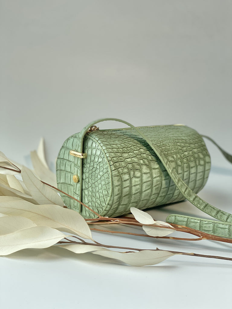 Green Barrel Bag - Slowliving Lifestyle