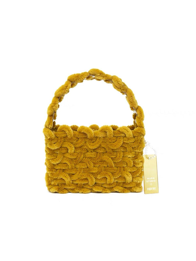 Warm Studio Fluffy Bag - Yellow - Slowliving Lifestyle