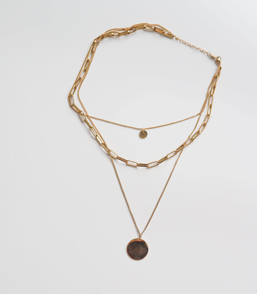 Layered Coin Necklace - Slowliving Lifestyle