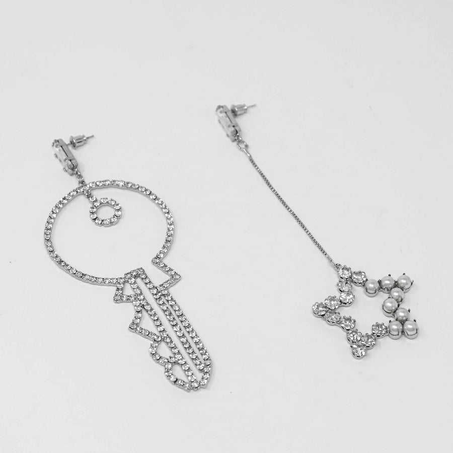 Key & Star Earring