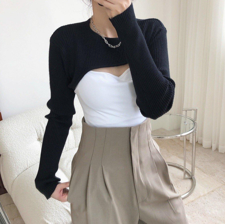 Cut Out Cropped Knit