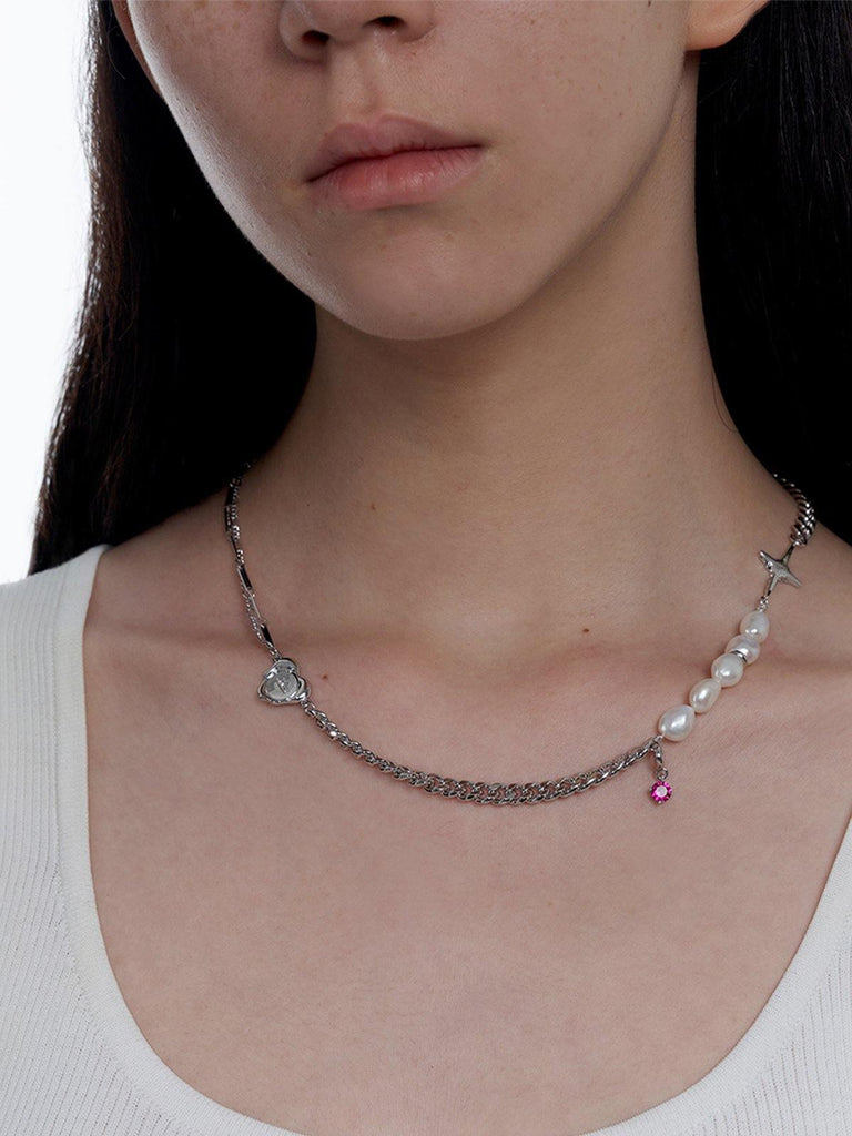 KVK Sensation Collection Necklace - Silver - Slowliving Lifestyle