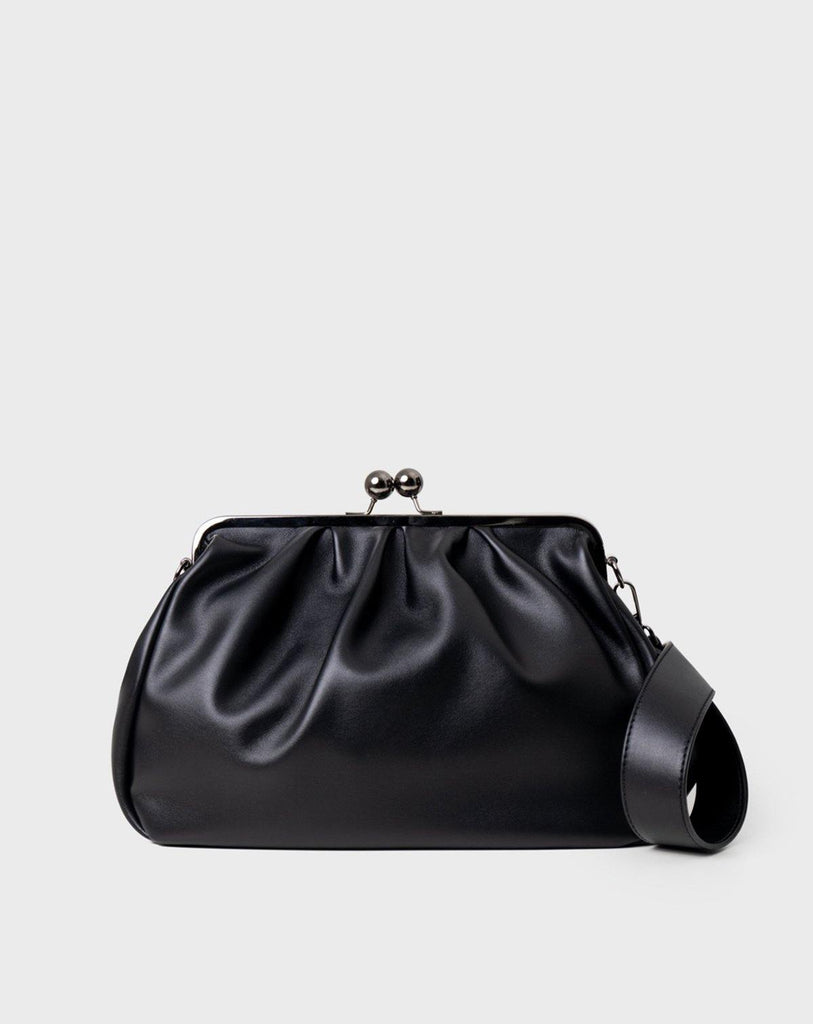 Dirty Six Big Size Clasp Bag - Black - Slowliving Lifestyle