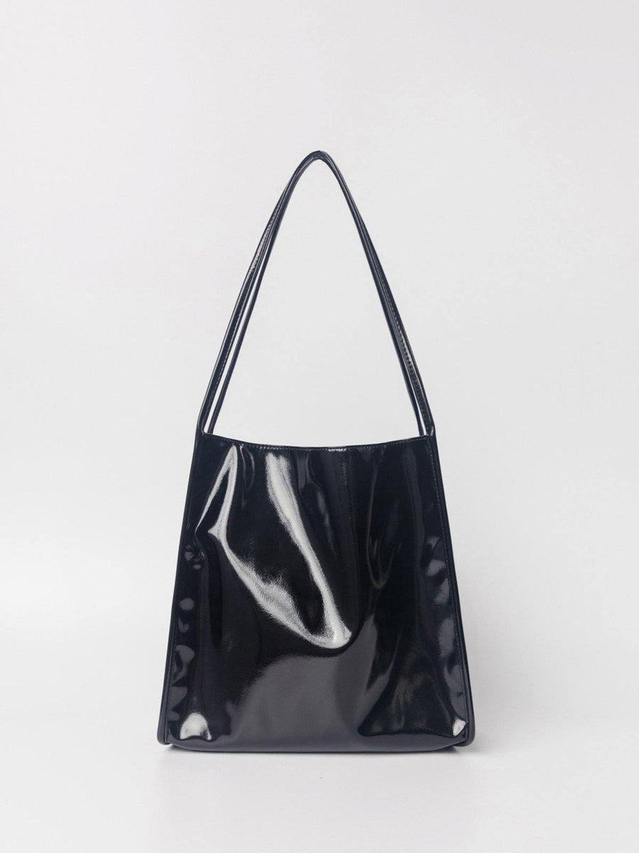 Dirty Six Patent Leather Tote Bag - Black