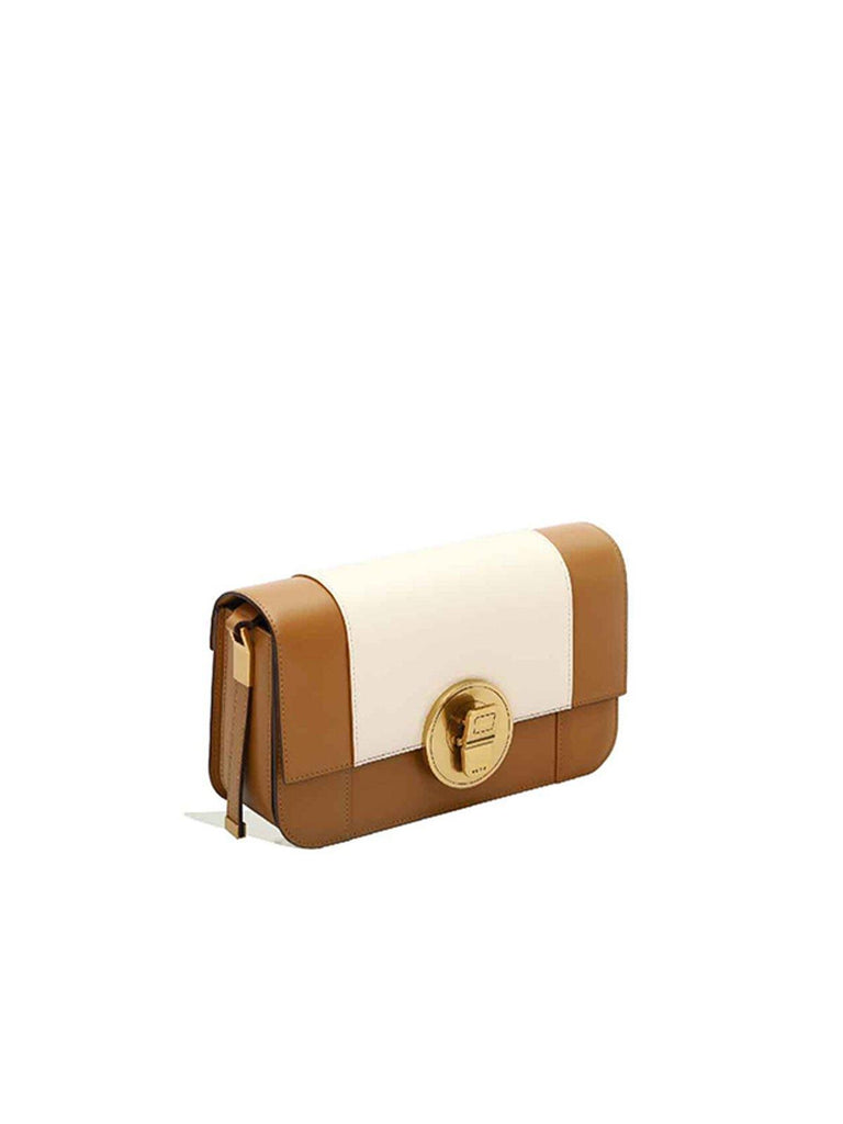 Peco Brown Energy Can Collection Colorblock Baguette Bag - Slowliving Lifestyle