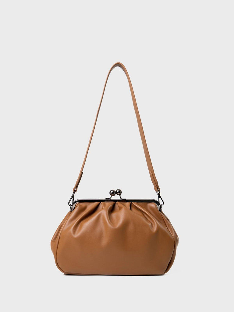 Dirty Six Big Size Clasp Bag - Camel - Slowliving Lifestyle