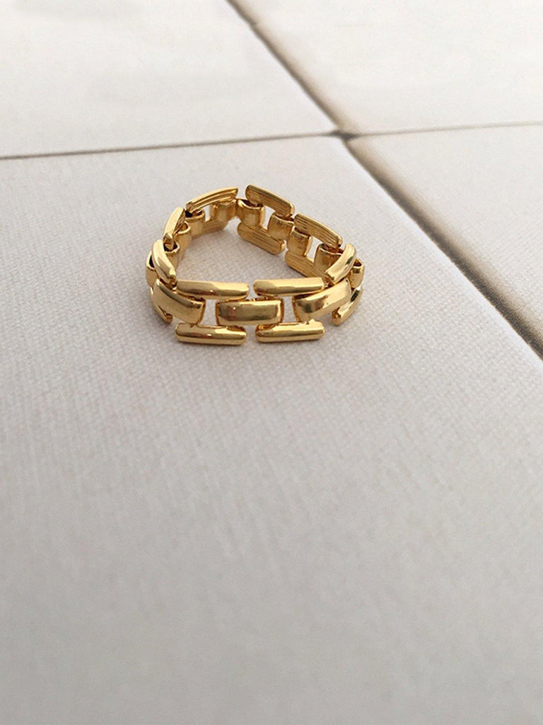 Glod Tone Chain Ring - Slowliving Lifestyle