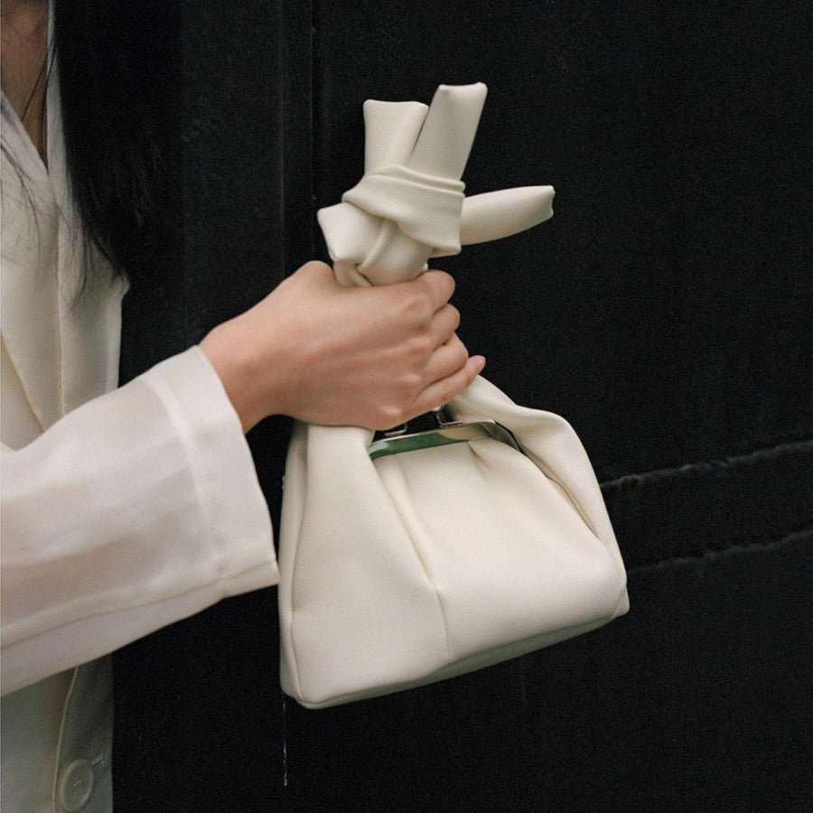 The Pleasure Isolated Anthesis Knot Bag - White