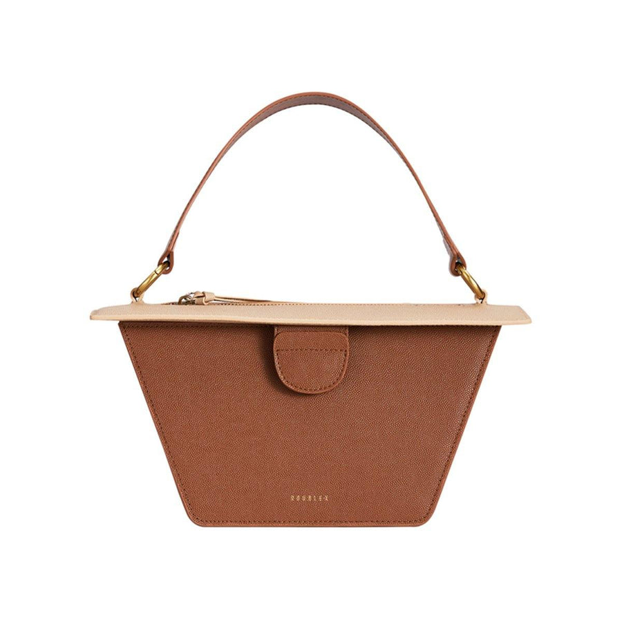 Double-X Neoclassical Collection Trapezoidal Bag - Brown