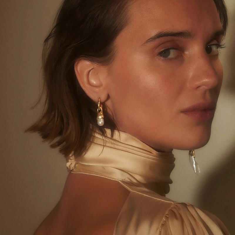 Mismatched Pearl Gold Drop Earrings - Slow Living Lifestyle