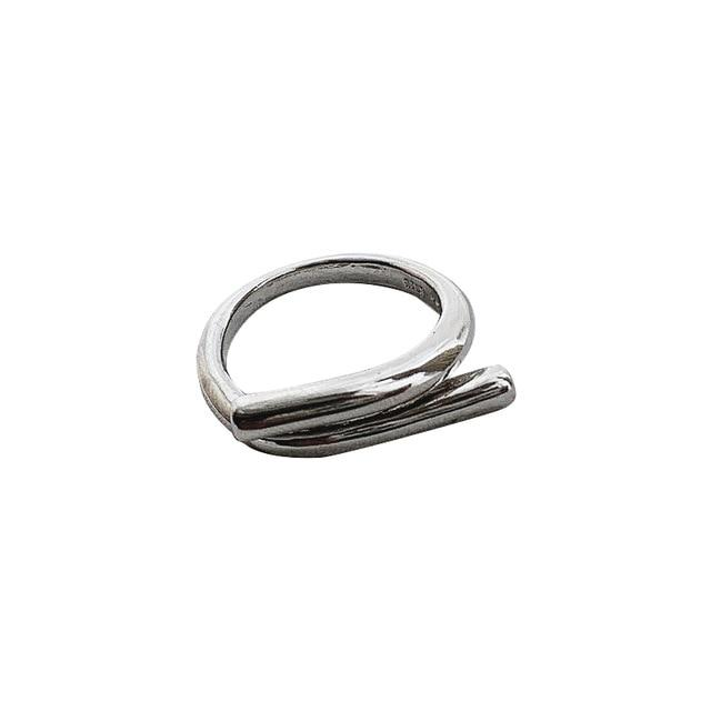 Simple Metal Lines Silver Ring - Slow Living Lifestyle