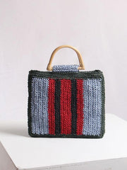 Stripe Handbag - Slow Living Lifestyle