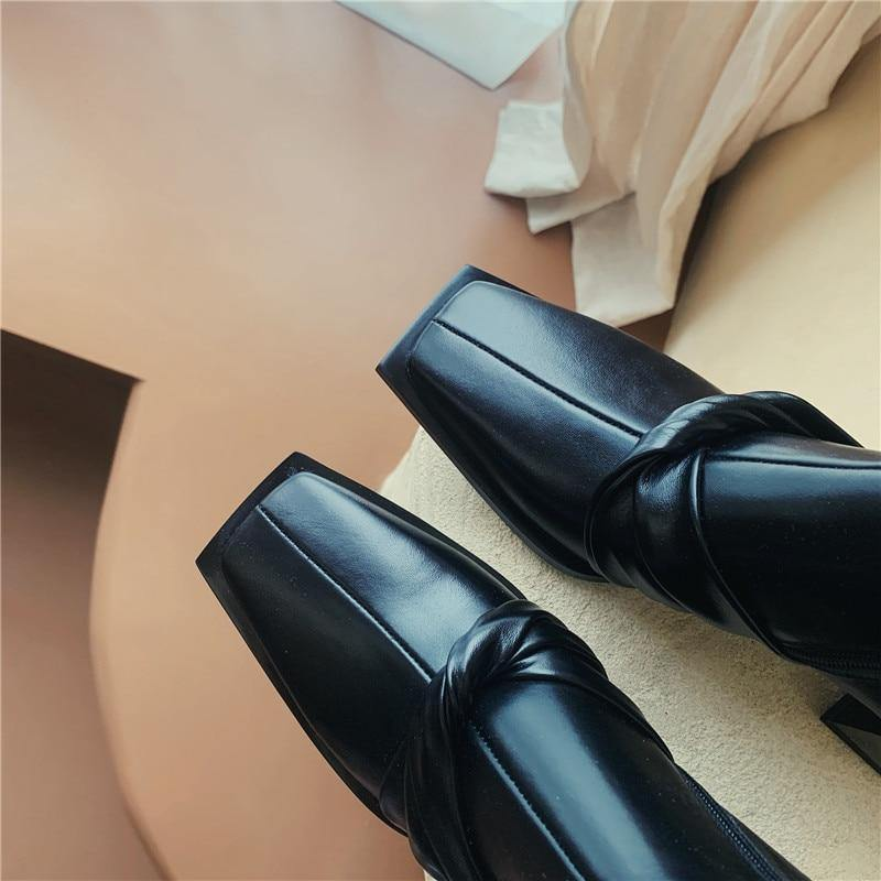 Genuine Leather Woman Boots Ankle Shoes