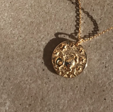 Capricorn 18K Gold Zodiac Necklace