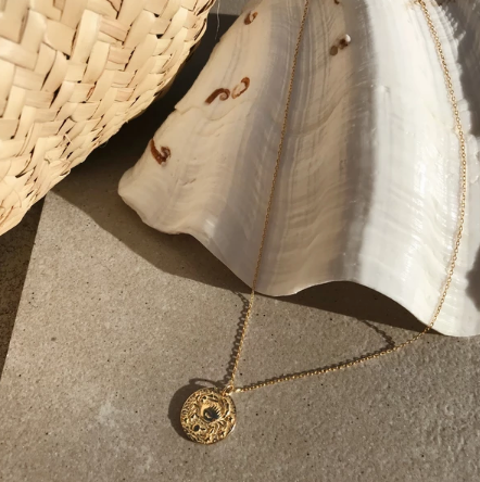 Cancer 18K Gold Zodiac Necklace
