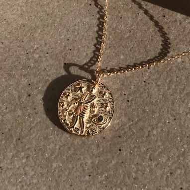 Aquarius 18K Gold Zodiac Necklace