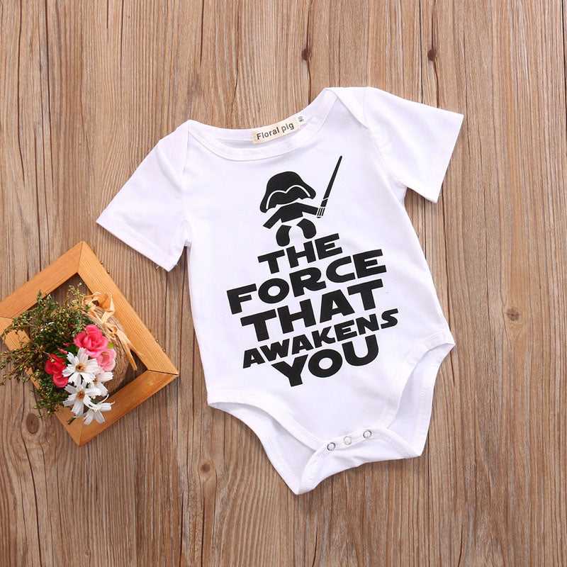 """THE FORCE THAT AWAKENS YOU"" Onesie"