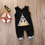 Black and Gold Tent Jumpsuit