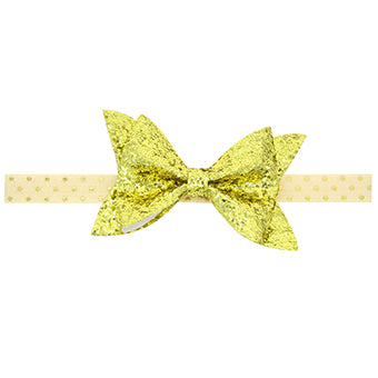 Gold Bow Knot Elastic Hair Band
