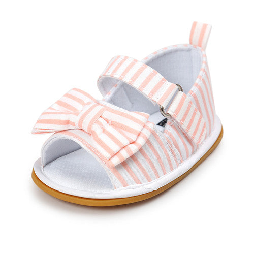 Baby Butterfly-Knot Soft Sole Shoes