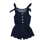 Sleeveless Denim Sunsuit