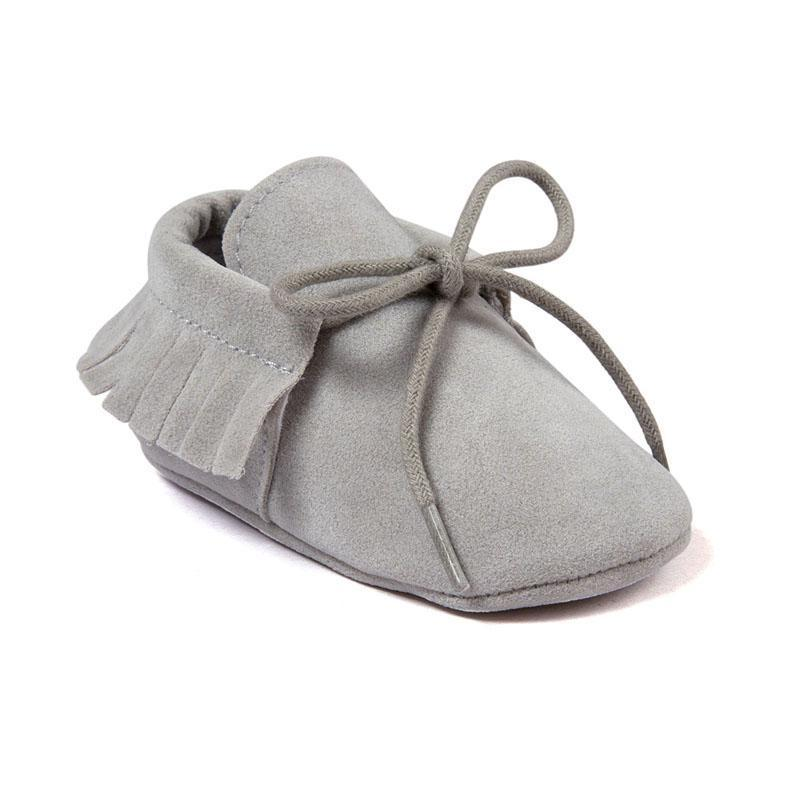 Baby Soft Sole Tie Up Moccasins