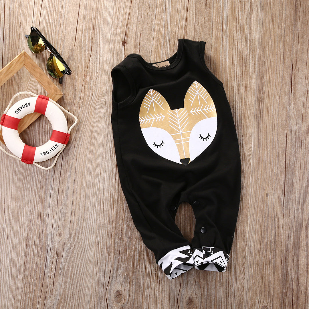 Black and Gold Fox Jumpsuit