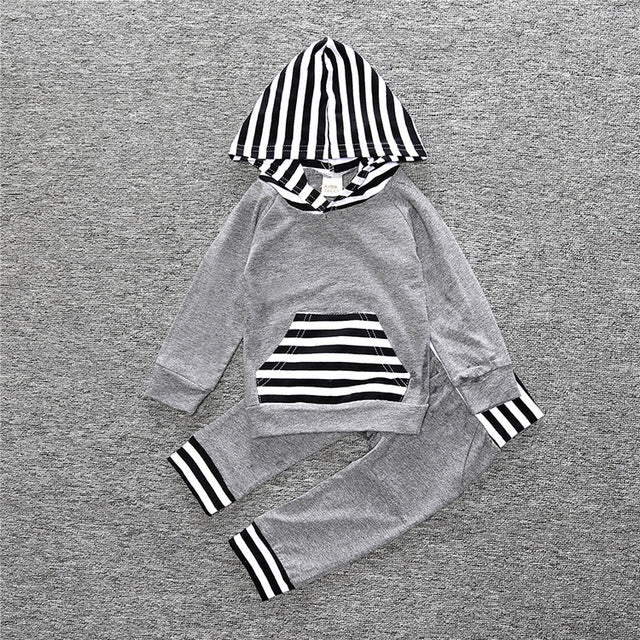2-Piece Long Sleeve Hoodie & Pants Set