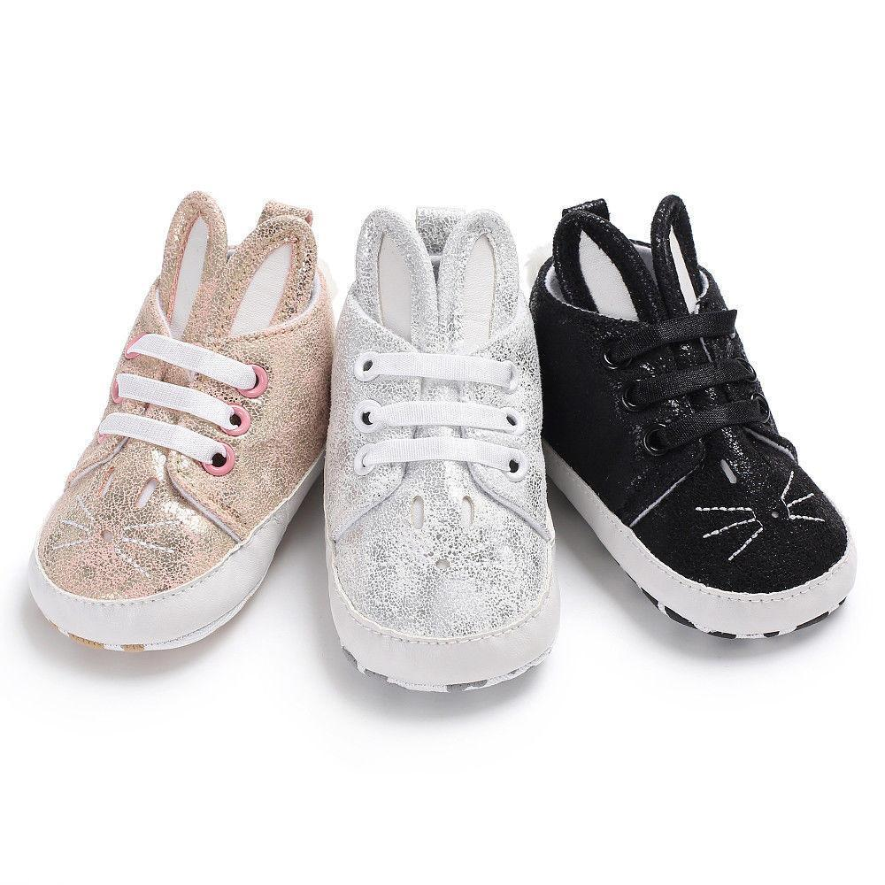 Bunny Ear Soft Sole Sneakers