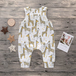 Giraffe Short Sleeve Jumpsuit