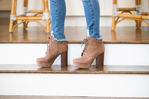 Lyla Rose Lace Up Booties