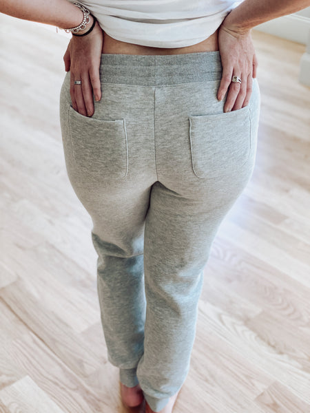 Neon String Jogger- Heather Grey