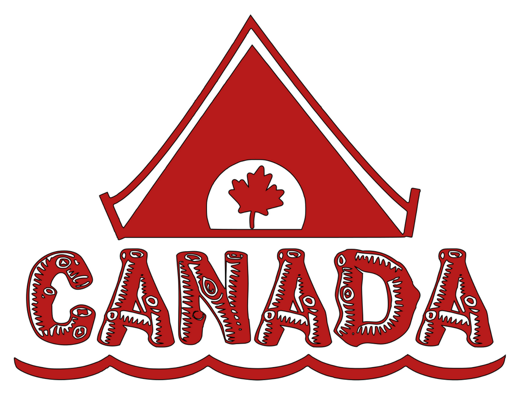 Canada Day Red Logo & Saying Set