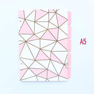 Domikee cute 6 rings paper index divider