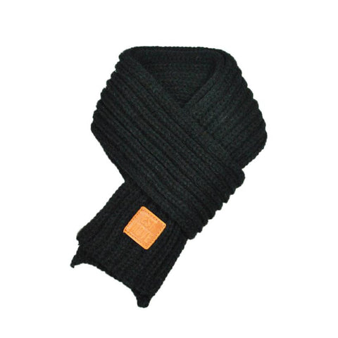 Boys Girls Solid Warm Knitted Scarf