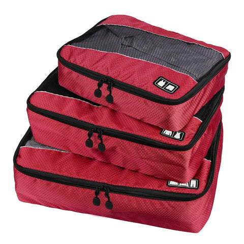 BAGSMART Travel Packing Cube (Small-Large 3 Piece) for Carry-on Travel Accessories. Suitcase and Backpacking (Single Compartment)