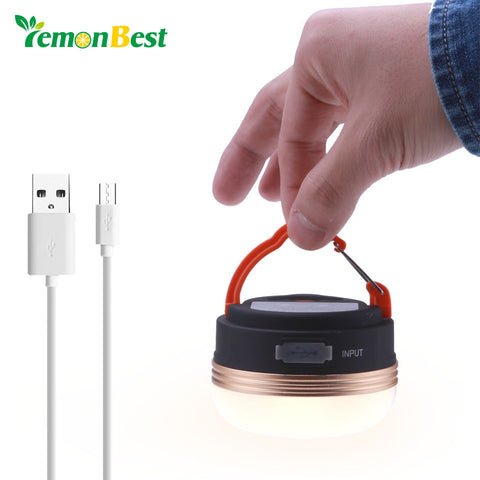 3W Portable LED USB Power Bank Rechargeable 1800mAh Outdoor Light Lantern Tent Lamp 3 Mode Emergency For Camping Indoor Outdoor