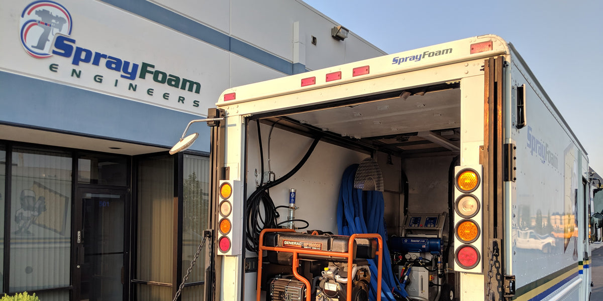 Spray Foam Trucks for sale.  Buy a Graco spray foam rig in a diesel box truck.