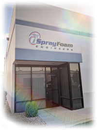 Spray foam engineers office warehouse where we build spray foam machines and also train contractors on spray foam equipment and sell spray foam barrels