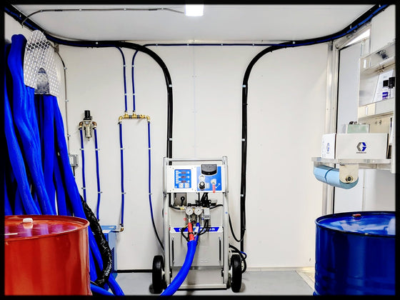 Graco A25 Spray Foam Rig with White Vinyl walls & Upgrades on sale - spray foam machine for closed cell foam