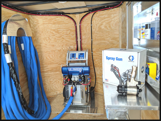 Graco E20 Spray Foam Machine and Insulation Equipment Trailer