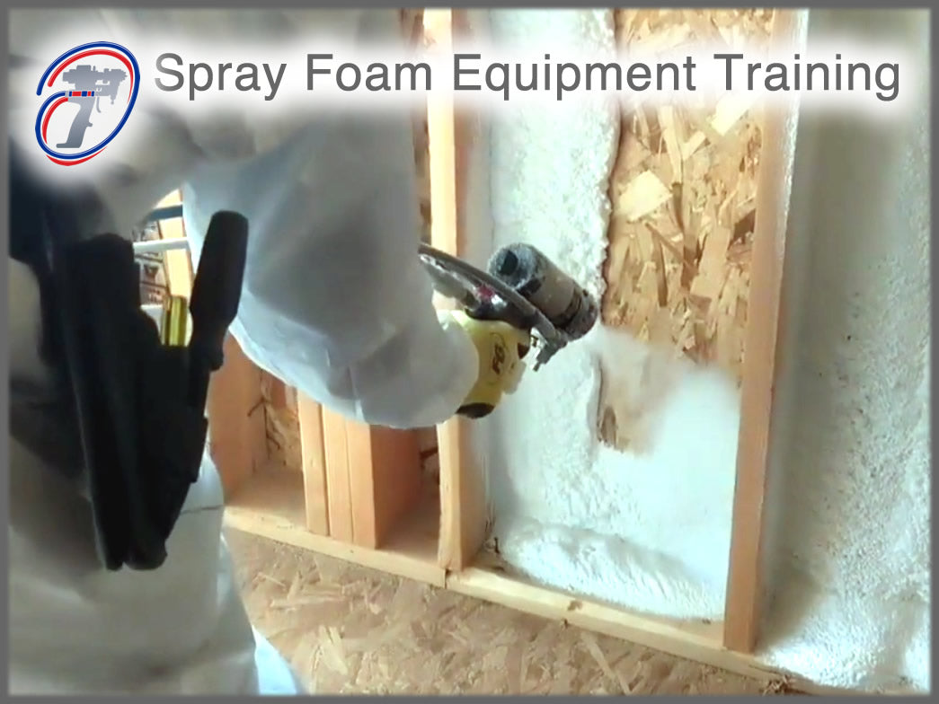 Spray foam insulation machine and equipment training and spray foam contractor training.