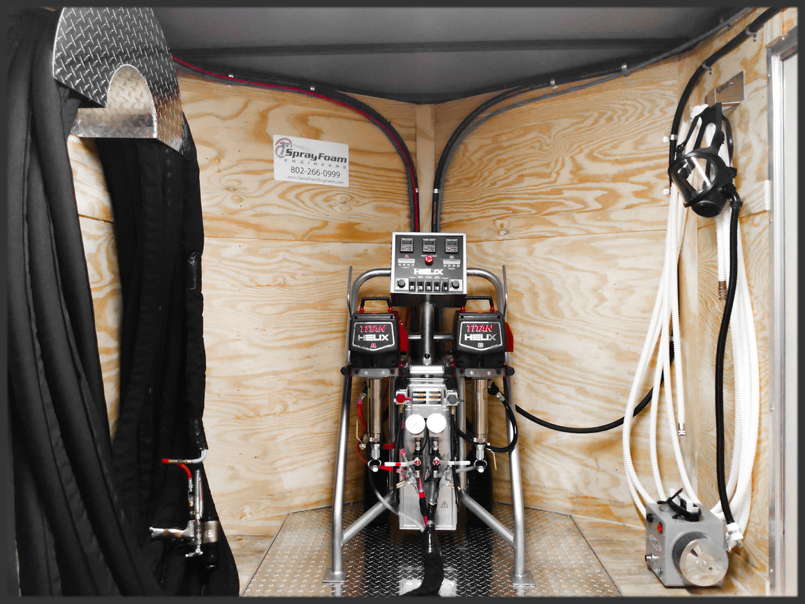Titan Helix Spray Foam Rig Equipment Trailer on Sale - spray foam machine for spraying closed cell foam