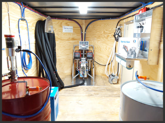 Titan Helix Spray Foam Insulation Rig - Spray Foam Equipment Trailer